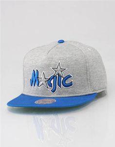 411f212553c Mitchell   Ness Orlando Magic Heather Pinch Snapback Cap