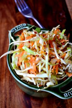 Asian Sesame Seed Slaw - a simple, but effective, white cabbage coleslaw, punctuated with the flavours of toasted sesame seeds and vibrant sesame seed oil.