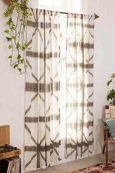 """Gefärbter Vorhang """"Indu"""" in Grau - 132x213 - 52"""