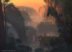 Andreas Rocha& Digital Illustration And Concept Art Landscape Concept, Fantasy Landscape, Landscape Art, Environment Concept Art, Environment Design, Mtg Art, Fantasy Places, Fantasy Setting, Wizards Of The Coast