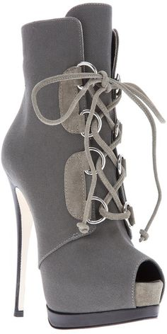 Giuseppe Zanotti Grey Two-Tone Peep Toe High Heel Boots Stilettos, Pumps, Stiletto Heels, Hot Shoes, Crazy Shoes, Me Too Shoes, Shoes Heels, High Heel Boots, Heeled Boots
