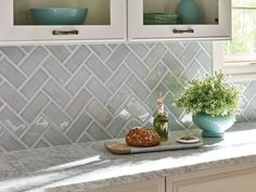 9 Fascinating Tips: Light Brick Backsplash rustic backsplash.Chevron Backsplash Herringbone backsplash with dark countertops stove. Kitchen Redo, Kitchen Tiles, Kitchen And Bath, New Kitchen, Kitchen Cabinets, Kitchen Countertops, Kitchen Island, Cheap Kitchen, Awesome Kitchen
