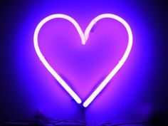 neon purple heart