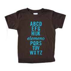 Possibly the coolest alphabet tee ever! Red tee is from American Apparel, 100% cotton, and made in the USA.    Available in sizes:    Short Sleeved