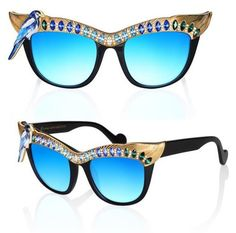Embellished specs featuring a crystal bird