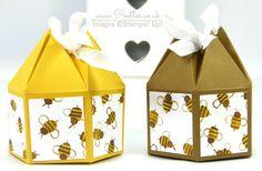 Beehive Box Tutorial using Stampin' Up! DSP