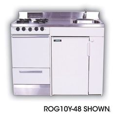 Acme ROG10Y51 Compact Kitchen With Stainless Steel Countertop, 4 Gas... ❤  Liked On Polyvore Featuring Home, Home Improvement And Household Appliances