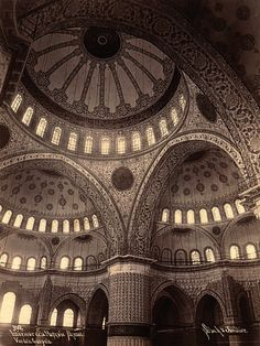 Interior of Sultanahmet Camii Mosque. Byzantine Architecture, Islamic Architecture, Facade Architecture, Amazing Architecture, Interesting Buildings, Beautiful Buildings, Castles In England, Glamour Photo, Stunning Photography