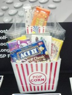 Another movie night trade show raffle basket.