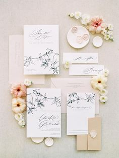 5 Thoughtful Tips & Tricks to Personalize Your Destination Wedding (from a Real Bride!) 5 Thoughtful Tips & Tricks to Personalize Your Destination Wedding (from a Real Bride! Simple Wedding Invitations, Wedding Invitation Design, Wedding Stationary, Floral Wedding Stationery, Invitation Ideas, Wedding Paper, Wedding Cards, Wedding Albums, Wedding Stationery Inspiration