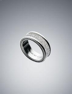 David Yurman 8.5mm White Diamond Pave Ring