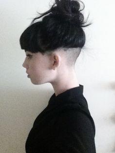 Undercut with bangs