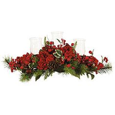 @Overstock - Red hydrangea candleholder is perfect as a centerpiece for your dining table  Nestled amongst the bold hydrangeas are three glass hurricane candle holders  Decorative candelabrum is ready to brighten your holiday mealhttp://www.overstock.com/Home-Garden/Holiday-Hydrangea-Candelabrum/3656883/product.html?CID=214117 $73.99