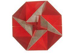 Red octagonal tato by me (Mlisande*) Tags: origami mlisande octagon tato