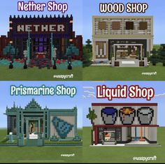 Villa Minecraft, Minecraft Shops, Minecraft Building Guide, Minecraft Farm, Minecraft Structures, Minecraft Cottage, Minecraft House Tutorials, Minecraft Modern, Minecraft Pictures