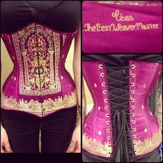 this corset is made of an antique Indian sari woven by Libas, the best weaver master!