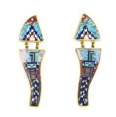 Micro mosaic earrings, Carl & Irene Clark (Diné)