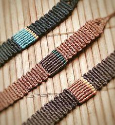 nice Handmade Bracelet Macrame Jewelry Wristbands by MacrameBrazilian...