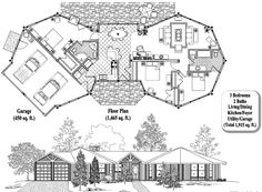 , 3 Bedrooms, 2 Baths, Classic Collection by Topsider Homes Earthship Plans, Classic Collection, My Dream Home, Playroom, House Plans, Floor Plans, Flooring, How To Plan, Baths