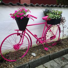 Sykkel med blomster