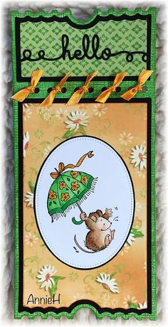 Annie's kaarten en zo: PB muisje met paraplu