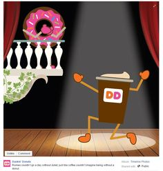 Great Facebook post from Dunkin' Donuts in New York, NY / Sympathique post Facebook de Dunkin' Donuts à New York, NY https://www.facebook.com/DunkinDonuts/photos/a.505010866202585.1073741829.504997576203914/808066362563699/?type=1