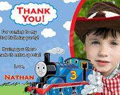 Thomas the train invitation. $7.50, via Etsy.