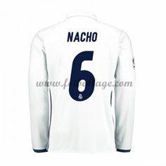Fotbollströjor Real Madrid 2016-17 Nacho 6 Hemmatröja Långärmad