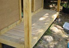 Build a Japanese Tea House - building the porch