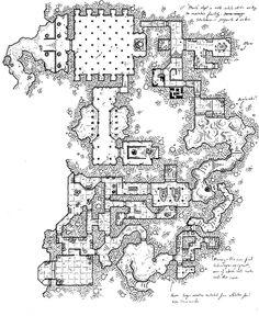 """Mountain Top """"Science"""" Facility w/ Temple Facade [map]"""