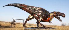 T-Rex - sculptor Hasan Novrozi Gorgeous Hors, Metal ...