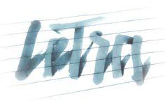 létra, brush calligraphy