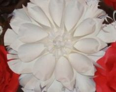 Giant Paper Flower Dahlia Trio set of 3 by FantasyinFlorals