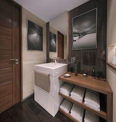 modern bathroom design in contemporary apartment