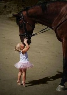 Every horse deserves to be loved by a little girl.