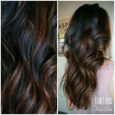 Dark Balayage Hair Color