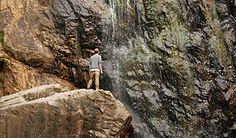 Amazing waterfall in Vila Nova de Milfontes, Portugal