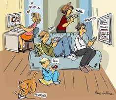 Internet quand tu nous tiens... ou c'est bon d'être en famille....