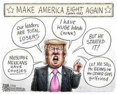 Political Cartoons of the Week: Trump Trash Talk sadly this is true