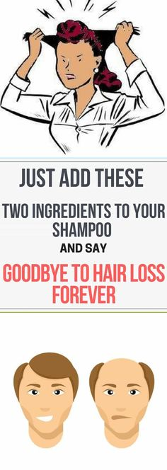 Just Add These Two Ingredients To Your Shampoo And Say Goodbye To Hair Loss Forever Do you know what causes hair loss? The experts say that hair loss is related to various factors as stress, pregnancy, menopause, weight loss, etc. Open this What Causes Hair Loss, Prevent Hair Loss, Excessive Hair Loss, Oil For Hair Loss, Shampoo For Hair Loss, Homemade Shampoo, Homemade Hair, Diy Shampoo, Natural Shampoo
