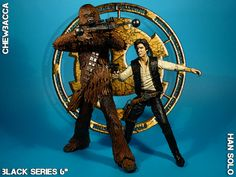 "Han Solo & Chewbacca Black Series 6"" #StarWars #ActionFigure #Hasbro"