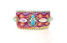 Made to Order / Luxury Swarovski Crystal Friendship Bracelet Jewelry Cuff,bohemian indian gypsy style,Ethnic boho aztec fashionista