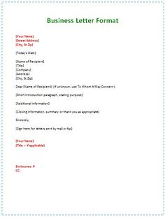 business letter format example formal business letter format a formal letter professional letter format