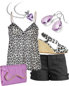 Lavender & Leopard, created by landyp on Polyvore