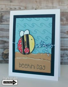 Tracy Mae Design: Beekini Day // The Alley Way Stamps, TAWS, clear stamps, stamps, BEE Sweet, BEE Unique