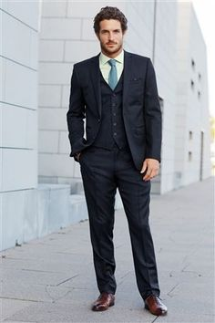 Blue Stripe Skinny Fit Suit: Jacket | Will | Pinterest | Shops
