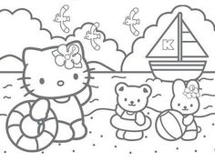 Hello Kitty color pages