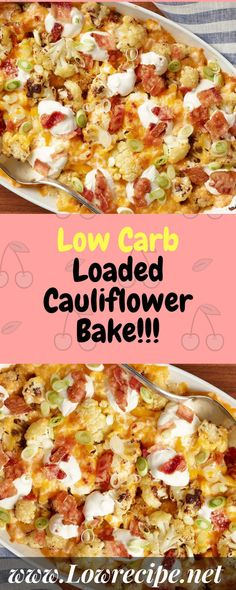 This Loaded Mashed Cauliflower Bake is basically what we all need. Side Dish Recipes, Vegetable Recipes, Low Carb Recipes, Cooking Recipes, Healthy Recipes, Cooking Time, Side Dishes, Diabetic Recipes, Vegetarian Recipes