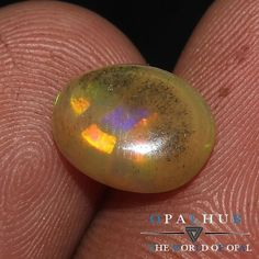 1.57 Cts 100% Natural Ethiopian Welo Fire Opal Cabochon Stone Play Color 4558
