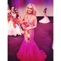 Fan Photo!!  Ashley, a beautiful Miss Teen Nevada 2014 contestant, looked pretty in pink while competing in her lovely Terani Couture pageant gown!  [Photo Credit: @celebrationsbridal | Instagram]